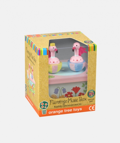 Cutie muzicala, Orange Tree Toys, flamingo, roz