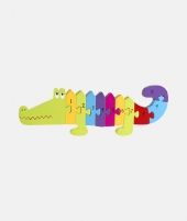 Puzzle numeric, Orange Tree Toys, crocodil, 12 luni+ - ElcoKids