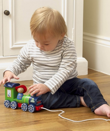 Jucarie de tras, Orange Tree Toys, trenul Peddington, verde