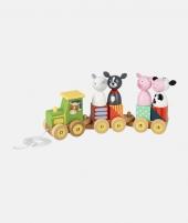 Puzzle tip tren, Orange Tree Toys, cu animale de la ferma - ElcoKids