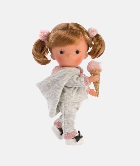 Papusa Llorens, Miss Pixi Pink, cu codite, 26 cm