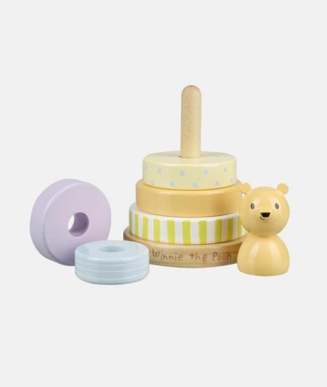 Joc de stivuit inele, Orange Tree Toys, Winnie the Pooh, clasic - ElcoKids