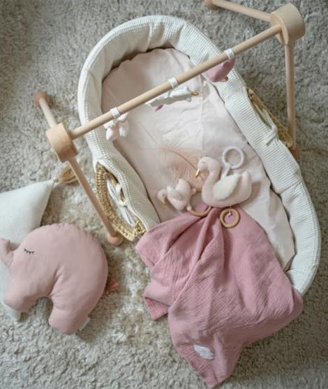 Jucarie muzicala, JaBaDaBaDo, lebada, roz, 14 cm