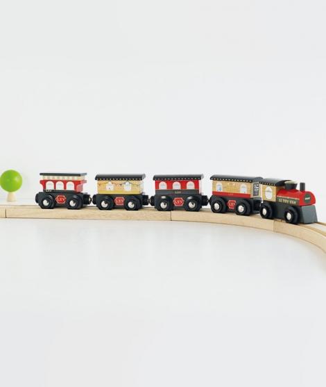Trenulet de pasageri, Le Toy Van, Royal Express, din lemn, rosu