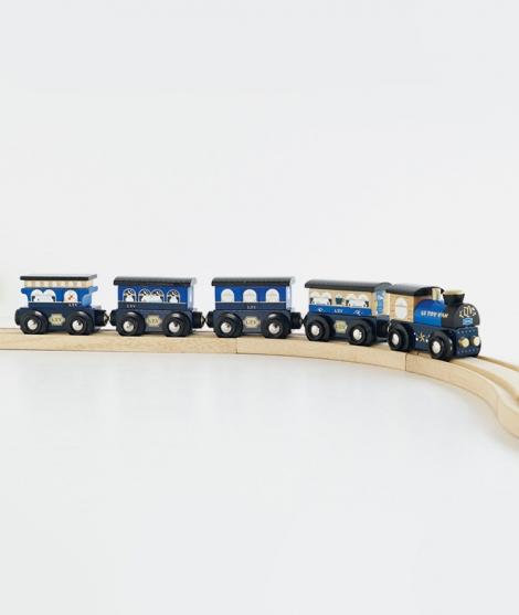 Trenulet Twilight, Le Toy Van, din lemn, albastru