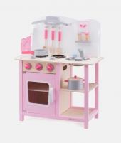 Bucatarie din lemn, New Classic Toys, Bon Appetit, roz - ElcoKids