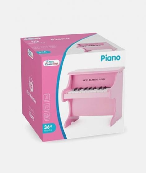 Pian din lemn, New Classic Toys, roz