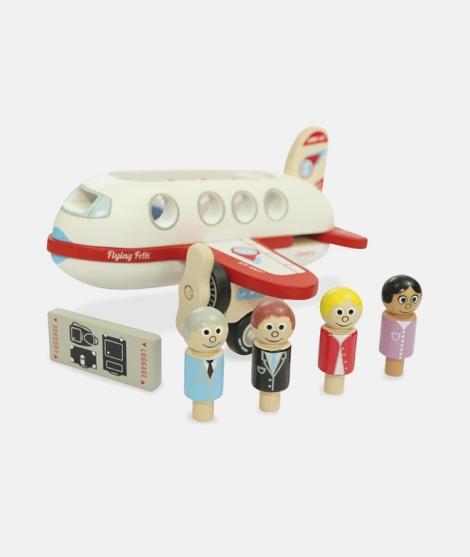 Avion din lemn, Indigo Jamm, Felix, cu pasageri