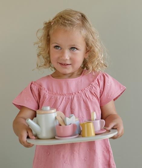 Set pentru ceai, Little Dutch, din lemn, 3 ani+