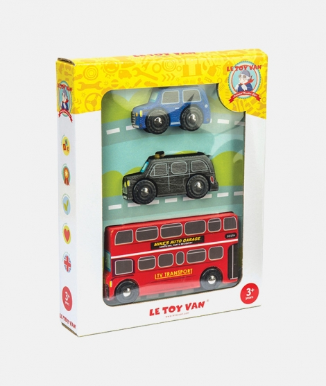 Set vehicule Londoneze, Le Toy Van, din lemn, 3 ani+