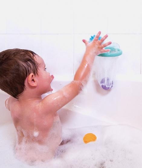 Jucarie pentru baie, Janod, cosul cu bile, 12 luni+