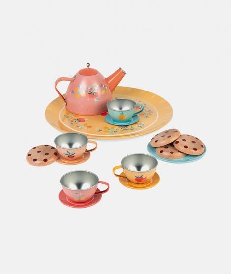 Set pentru ceai, Janod, din metal, 15 piese