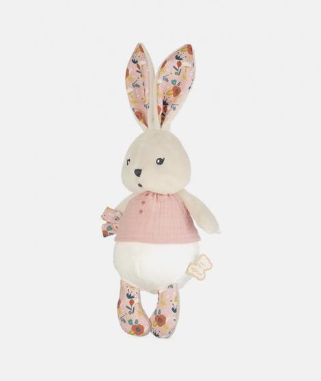 Jucarie textila, Kaloo, K'Doux, iepuras, roz, 25 cm