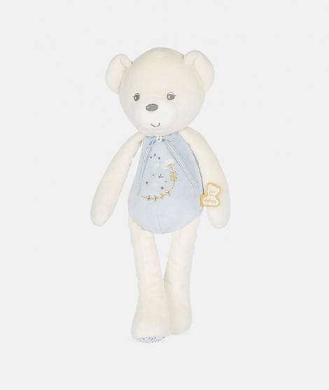 Jucarie muzicala, Kaloo, Perle, ursulet, de plus, albastru, 35 cm