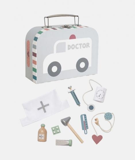 Trusa de doctor, JaBaDaBaDo, cu accesorii, gri, 3 ani+