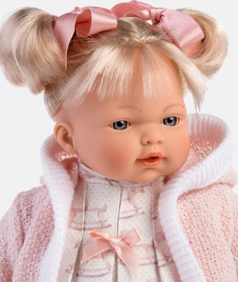 Papusa Llorens, Roberta cu hainute roz, cu sunete, 33 cm