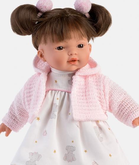 Papusa Llorens, Vera cu jacheta roz, cu sunete, 33 cm