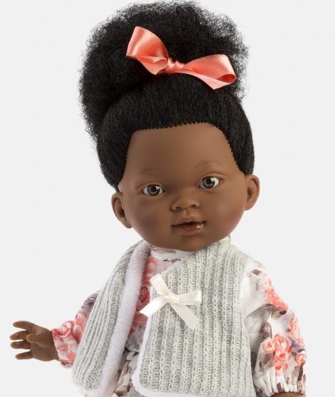 Papusa Llorens, africana Zoe, 28 cm