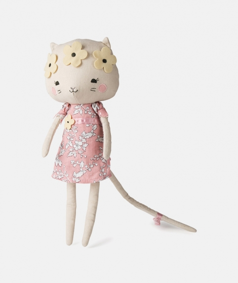 Pisica Kitty Cat, Picca Loulou, din bumbac, 33 cm