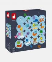 Puzzle educativ, Janod, invata alfabetul, din lemn, 28 piese - ElcoKids