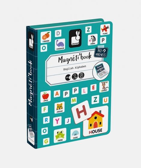 Joc educativ, Janod, alfabetul, cu piese magnetice, 3 ani+