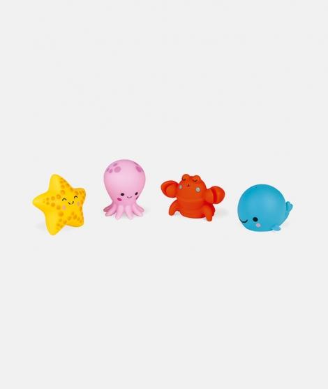 Set jucarii pentru baie, Janod, 4 animale marine, 10 luni+