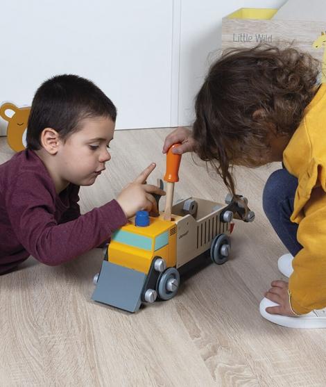 Camion din lemn, Janod, Brico'Kids, de construit