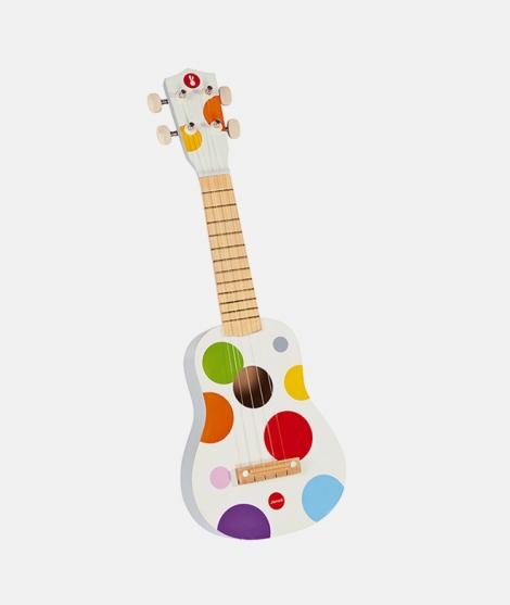 Chitara din lemn, Janod, Confetti, cu 4 corzi