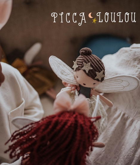 Papusa Picca Loulou, Zana Felicity, din bumbac, 35 cm