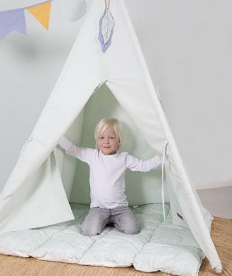 Cort camera copilului, Little Dutch, din bumbac, verde